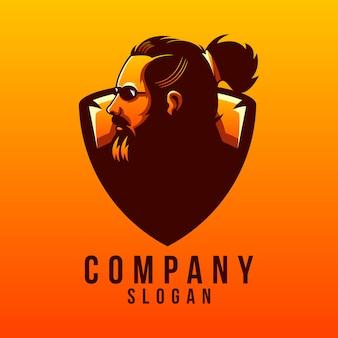 Disegno del logo della barba