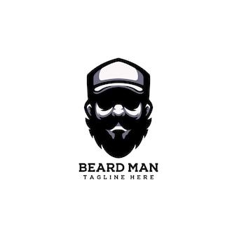 Barba uomo hipster ragazzo capelli persone alla moda