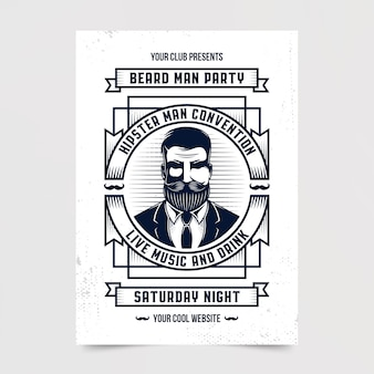 Modello volantino - uomo barbuto hipster