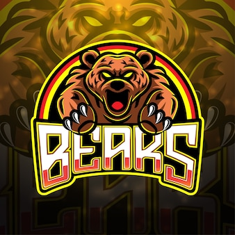 Bears esport mascotte logo design