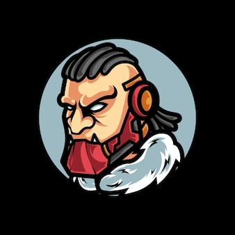 Logo mascotte beast cyber sport