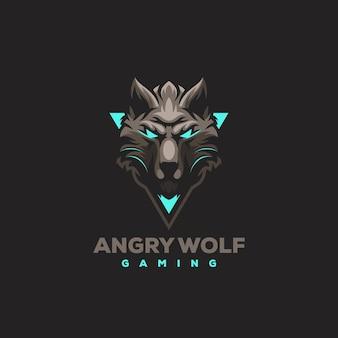 Beast design del logo sportivo da gioco