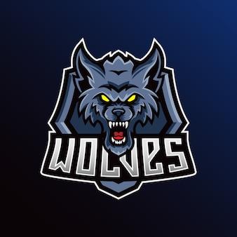 Beast mascot esport logo illustrazione modello.
