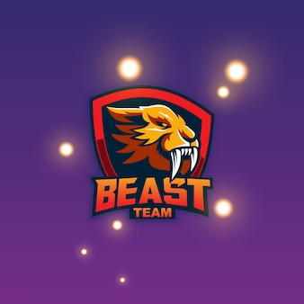 Logo della mascotte della bestia