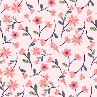 Bellissimo motivo floreale astratto senza soluzione di continuità, motivo floreale senza soluzione di continuità alla moda, motivo floreale vintage