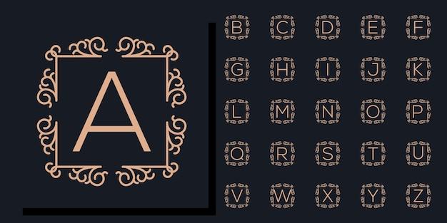 Bella collezione floreale alfabeto