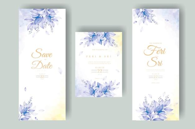 Bella carta di invito a nozze con foglie autunnali autunnali