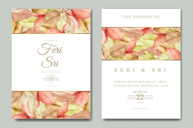 Bella carta di invito a nozze autunno autunno