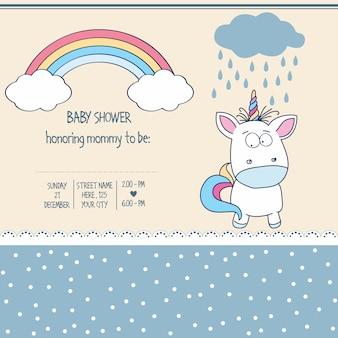 Modello di scheda bella baby doccia
