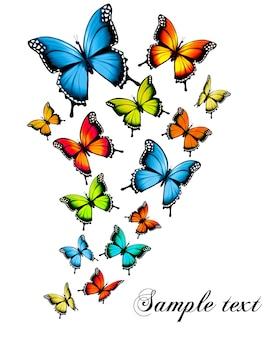 Bellissimo sfondo farfalla. vettore.