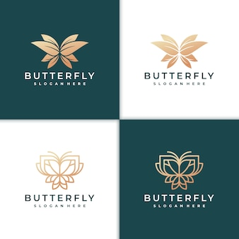 Bellissimo logo farfalla