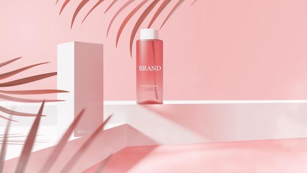 Bellissimo modello di banner spray cosmetico