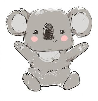 Bella koala infantile sveglia dell'illustrazione.