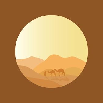 Splendido scenario del deserto