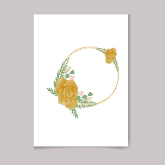 Bellissimo disegno della cornice floreale premium dell'acquerello femminile dipinto a mano digitale