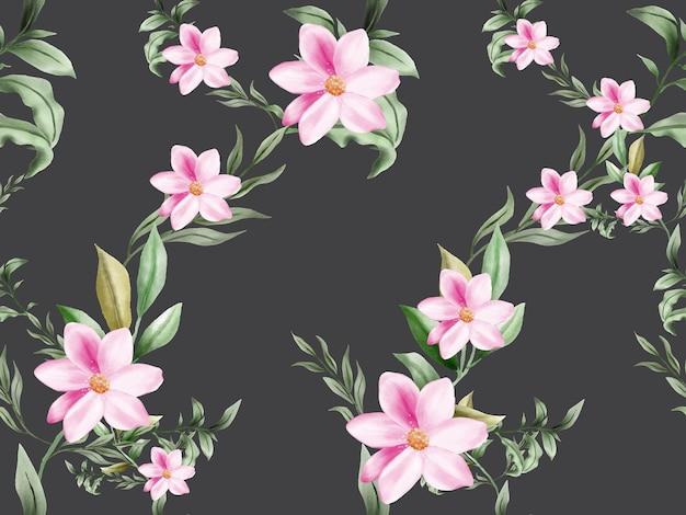Bello ed elegante motivo floreale senza soluzione di continuità