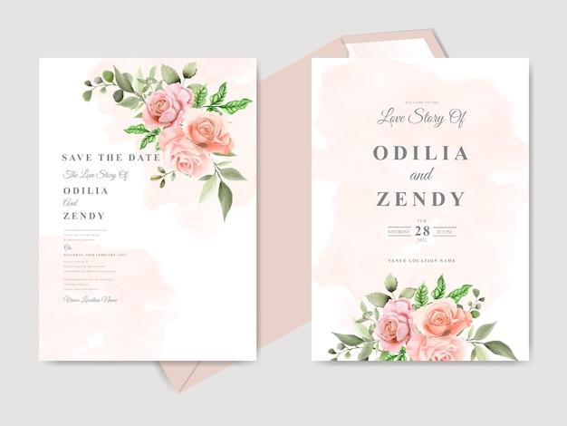 Modelli di carta di invito matrimonio floreale bello ed elegante