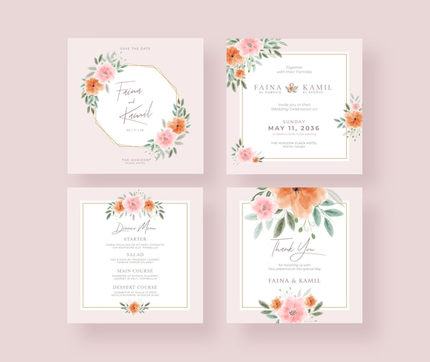 Bella ed elegante raccolta di post su instagram per matrimoni