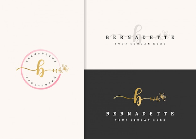 Bellissimo design del logo femminile.