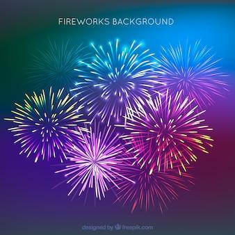 Bellissimo sfondo di fuochi d'artificio