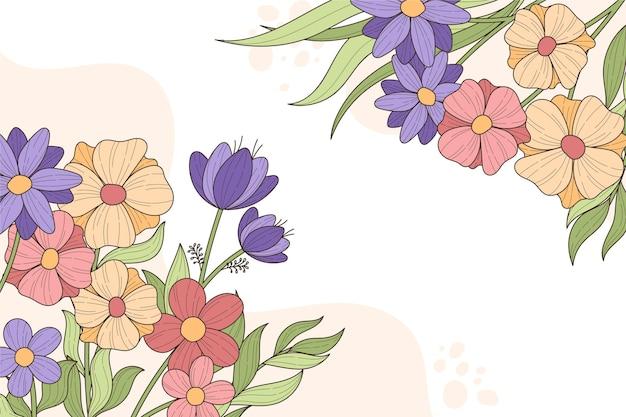 Bellissimo sfondo floreale con copia spazio