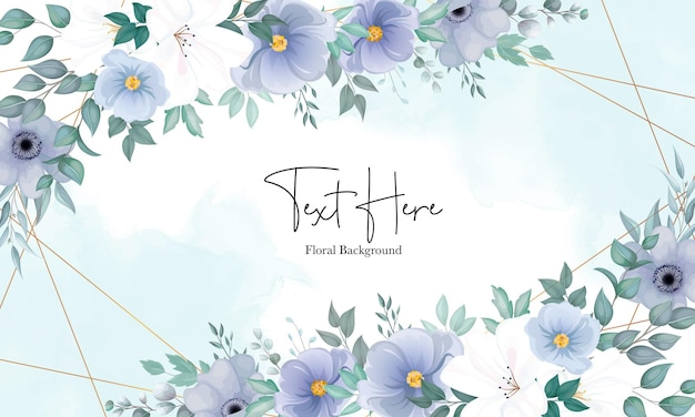 Bellissimo sfondo floreale con un elegante fiore blu navy e bianco