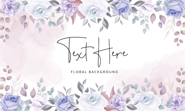 Bellissimo sfondo floreale con morbidi fiori viola