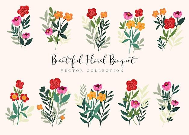 Bella collezione di bouquet floreali