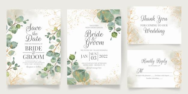 Bellissimo modello di invito a nozze con cornice floreale
