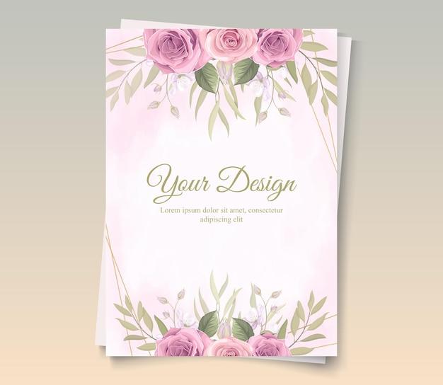 Bella cornice floreale con disegno di rose colorate