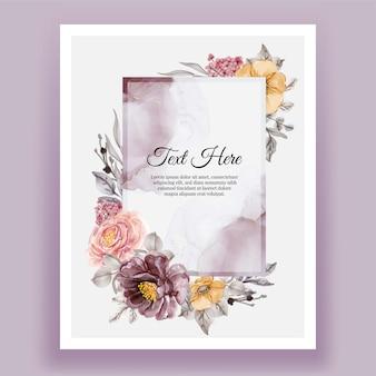 Bella cornice floreale con fiore elegante