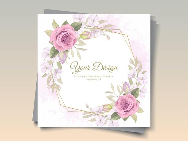 Bella cornice floreale con decoro di rose