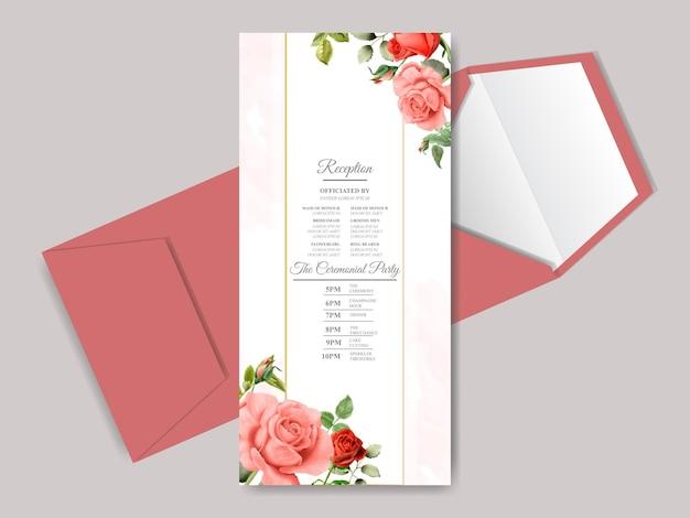 Bella carta di invito matrimonio floreale disegnata a mano