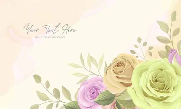 Bellissimi fiori e foglie