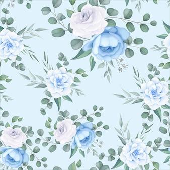 Bellissimo motivo floreale senza soluzione di continuità con delicati ornamenti floreali