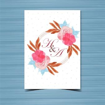 Bellissimo distintivo di matrimonio floreale