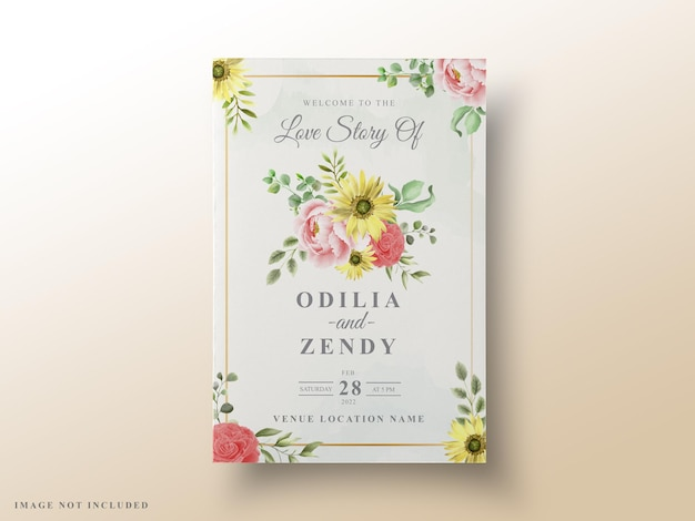 Bella carta di invito matrimonio floreale