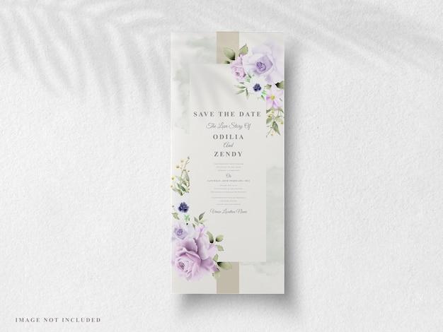 Bellissimi inviti di nozze floreali