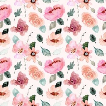 Modello senza cuciture dell'acquerello del bello giardino floreale