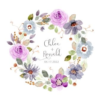 Corona dell'acquerello bellissimo giardino floreale