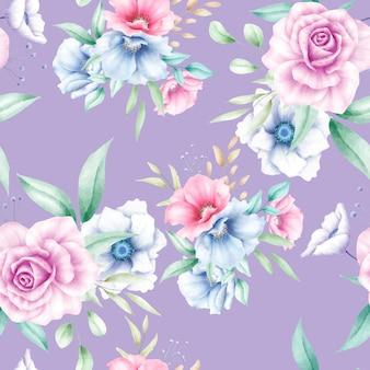 Modello senza cuciture bellissimo fiore