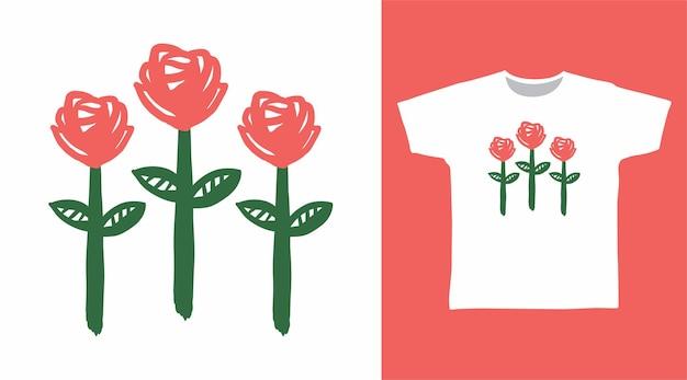 Bellissimo fiore per il design della maglietta