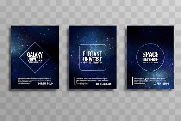 Bella galassia stylie business brochure design set