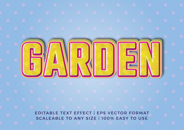 Bellissimo effetto di testo titolo giardino