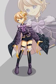 Illustrazione del fumetto del gioco del personaggio di design di bella ragazza