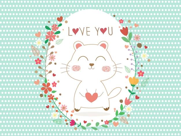 Bella cartolina d'auguri con pois bianchi su cartolina d'auguri blu