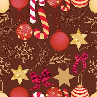 Bellissimo motivo natalizio disegnato a mano