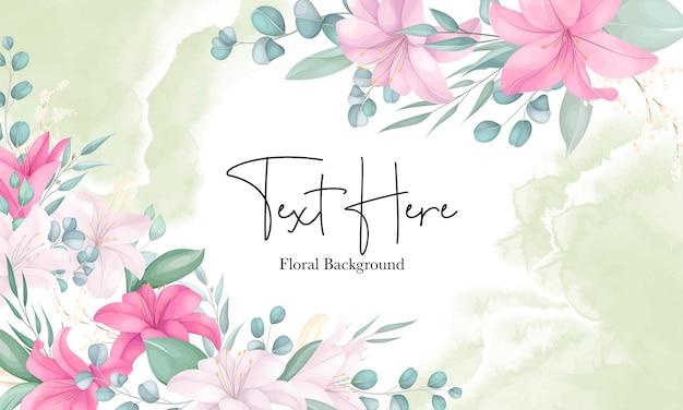 Bellissimo sfondo di fiori di giglio disegnato a mano