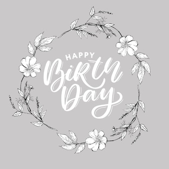 Bellissimo saluto di buon compleanno con fiori
