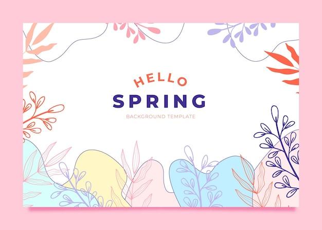Bellissimo modello di sfondo ciao primavera